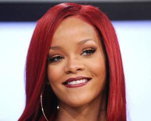 Rihanna's beautiful red hair