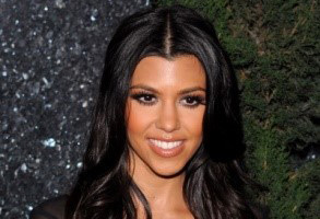 kourtney kardashian's beautiful black hair