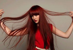 statement red hair colour