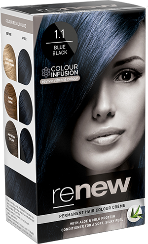 Blue Black Hair Colour