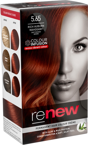 Rich Auburn Mahogany Hair Colour