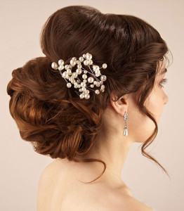 Chignon hairstyle for a wedding