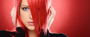 Bright red hair