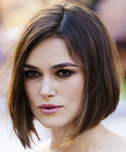 Keira Knightly Hairstyle for Diamond Shaped Face Renew