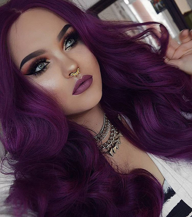 Purple Fantasy Hair Colour with Renew