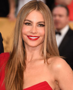 golden brown hair with Renew and Sofia Vergara