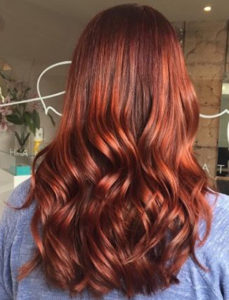 red hair with Renew - colour infusion