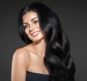 Black Hair Colour on a beautifully long wavy hair