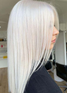 Ice blonde hair colour trending for the season