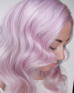 Colour play presents pastel pink hair with Renew