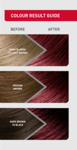 colour result guide for Berry Frappuccino hair colour