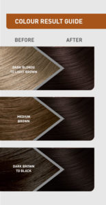 Colour result guide for Iced Coffee hair colour