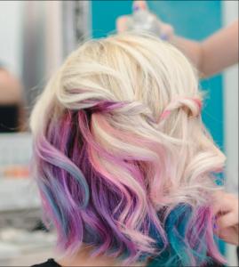 Pretty multi-coloured pastel hair locks trending for summer