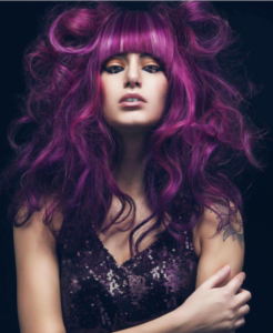 Gorgeous purple hair with Renew
