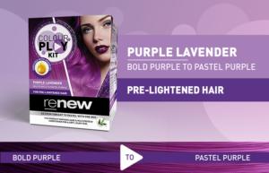 Purple lavender hair colour