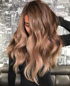Latte brown hair