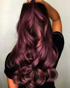 Radiant mulberry hair