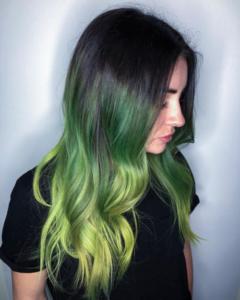 Green hair colour with Renew Hair Colour