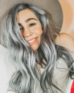 Silver hair with Renew