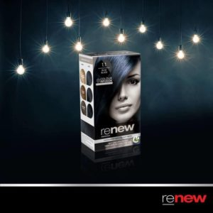Bold Blue Black hair from Renew