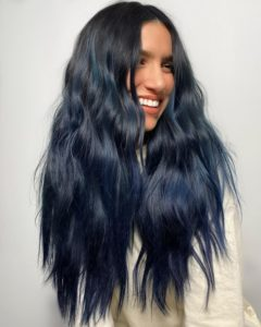 Darkened ombre hair colour trend