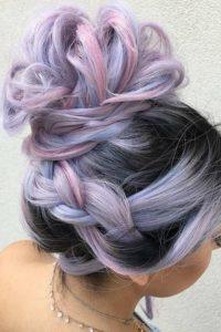 Unicorn hair with variety shades