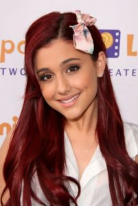 beautiful red hair with Ariana