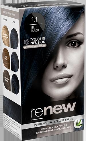 Blue Black Hair Colour