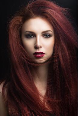 Burgundy hair colour