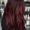 Velvety burgundy hair with Renew