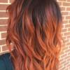 Rich auburn mahogany hair with Renew