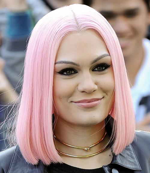 Jessi J pink bob hair trend