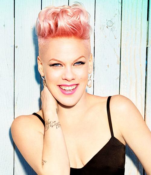 P!nk has pink hair