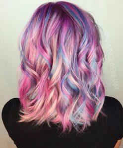 Multi colour summer hair trend