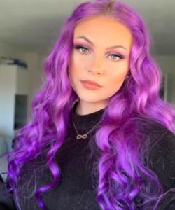 Dreamy purple hair