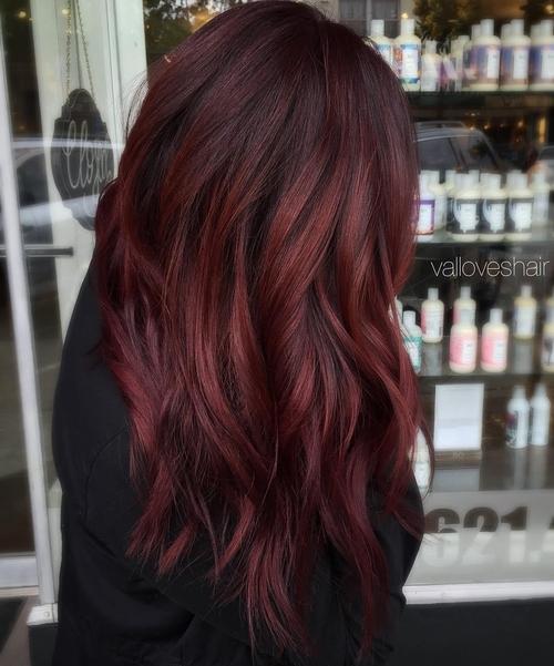 Burgundy Blended Hair