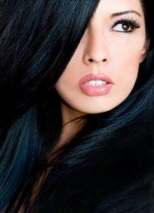 Blue Black Stunner hair colour for winter